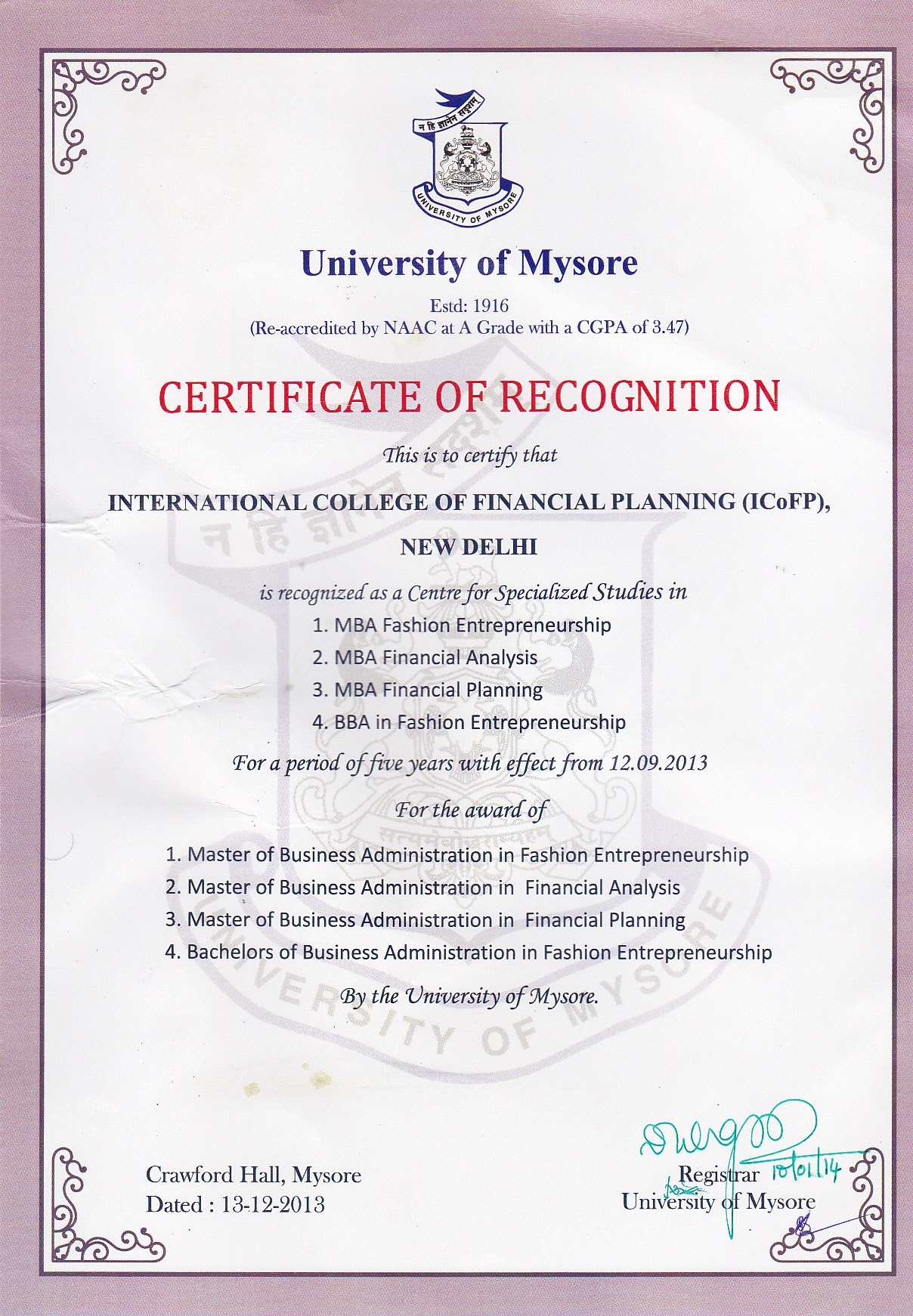 book professional programme study material financial treasury mba degree is awarded by the university of mysore which is recognized
